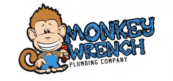 Monkey Wrench Plumbing Company Logo